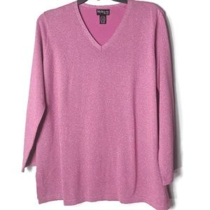 Style & Co Shimmery Pink Sweater